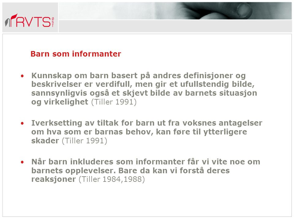 Barn som informanter