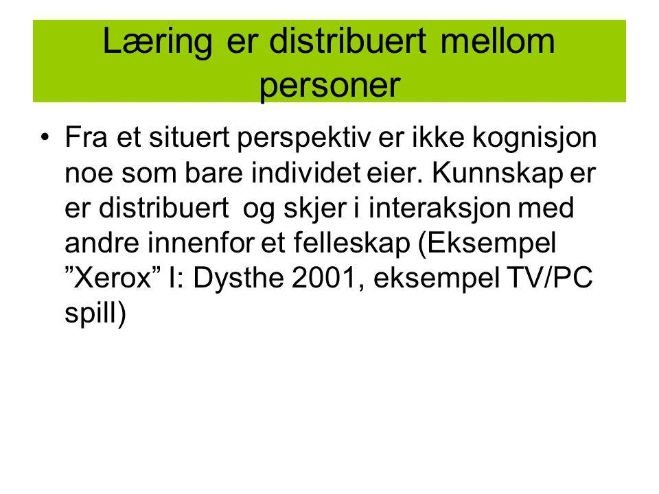 Læring er distribuert mellom personer