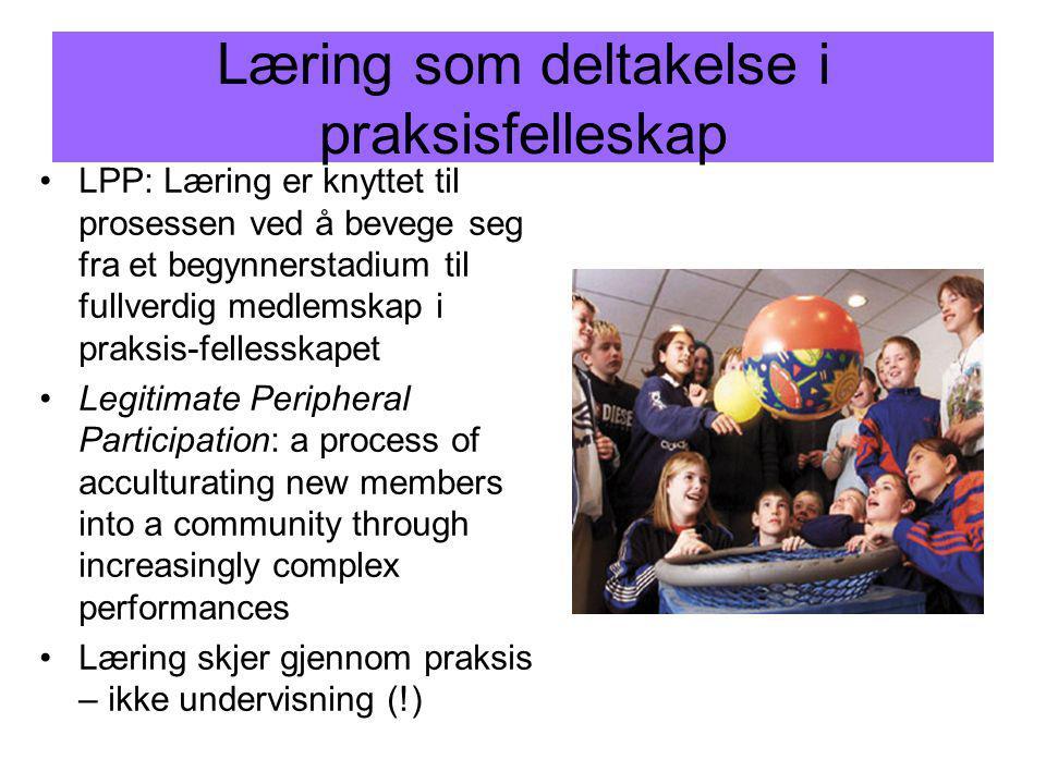 Læring som deltakelse i praksisfelleskap