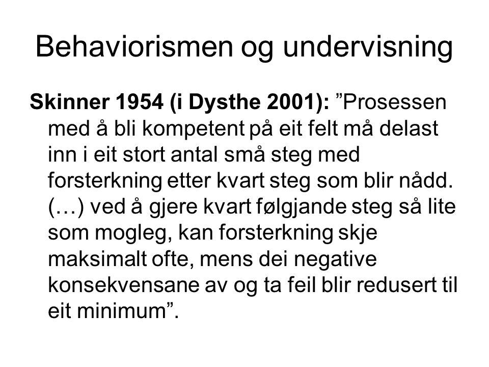 Behaviorismen og undervisning