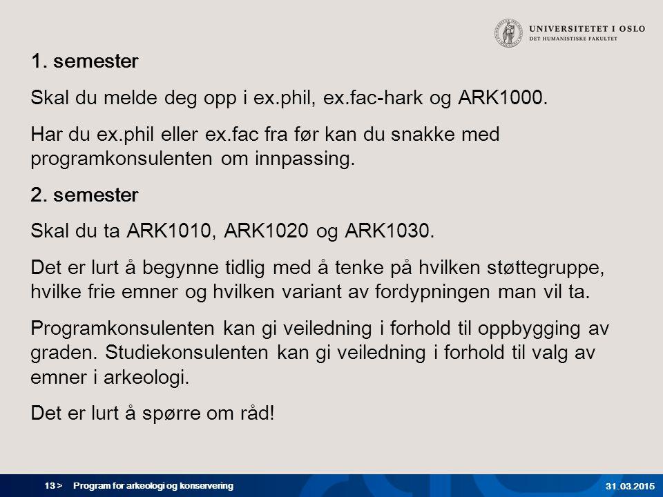 Skal du melde deg opp i ex.phil, ex.fac-hark og ARK1000.