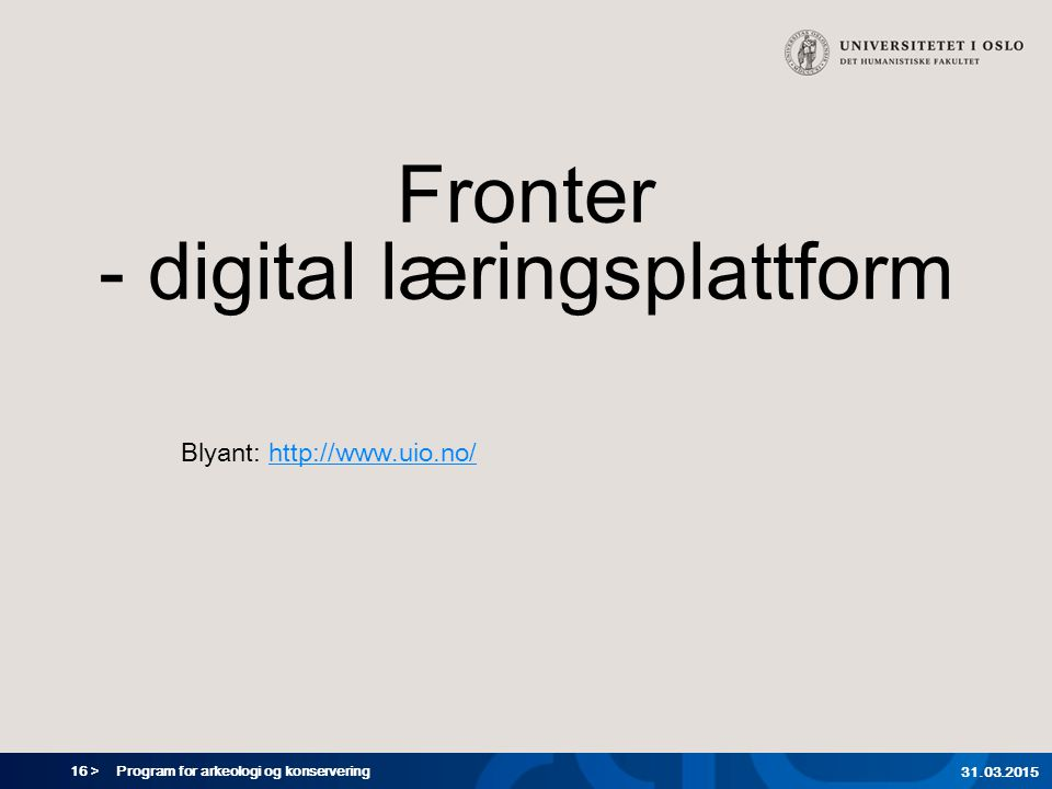 Fronter - digital læringsplattform
