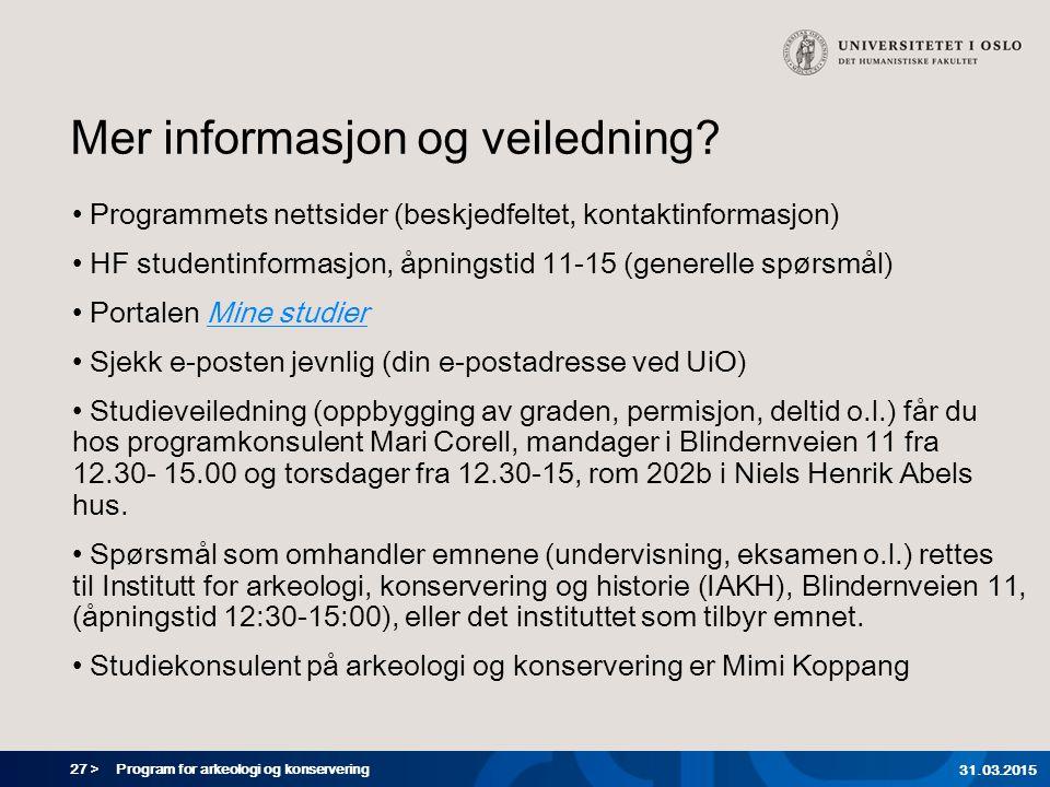 Mer informasjon og veiledning