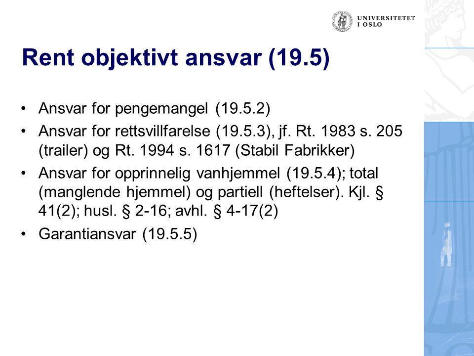 Rent objektivt ansvar (19.5)