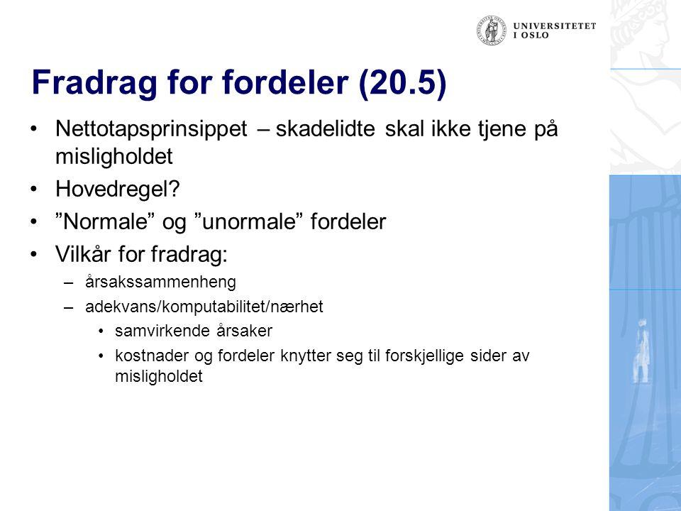 Fradrag for fordeler (20.5)