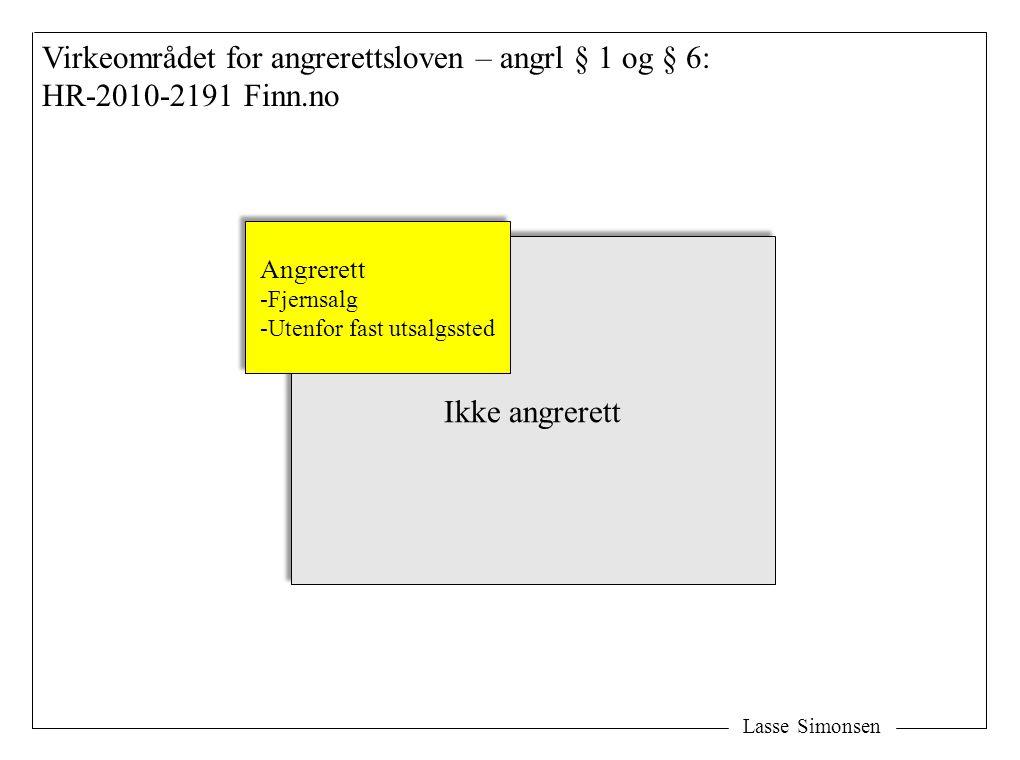 Virkeområdet for angrerettsloven – angrl § 1 og § 6: