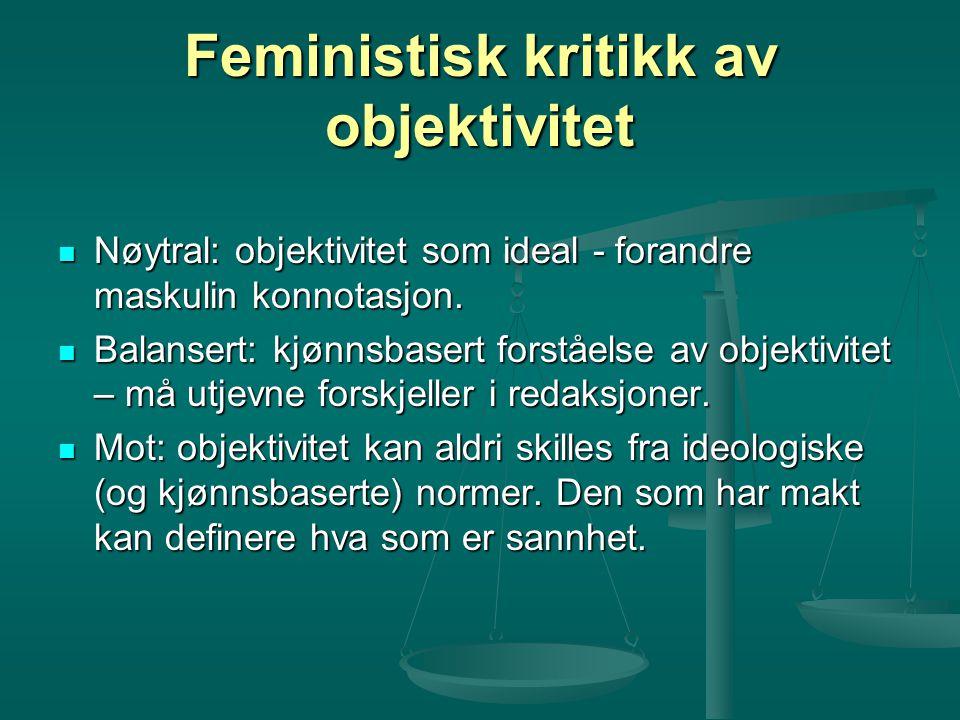 Feministisk kritikk av objektivitet