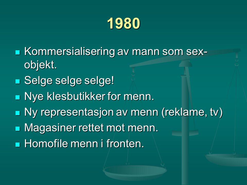1980 Kommersialisering av mann som sex-objekt. Selge selge selge!