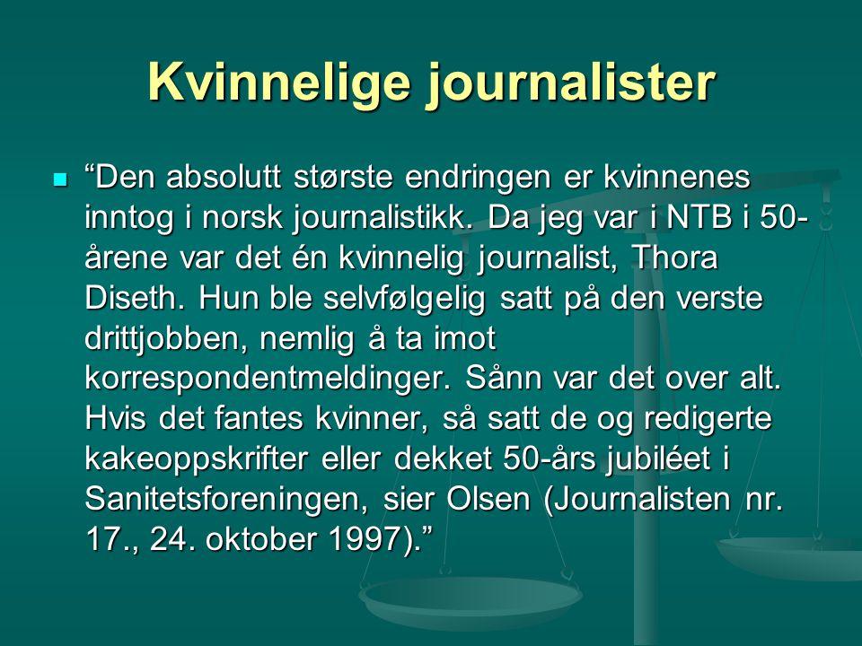 Kvinnelige journalister