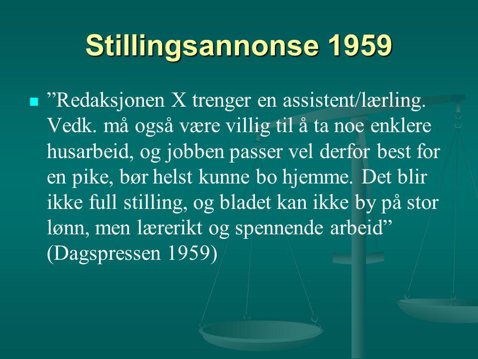 Stillingsannonse 1959