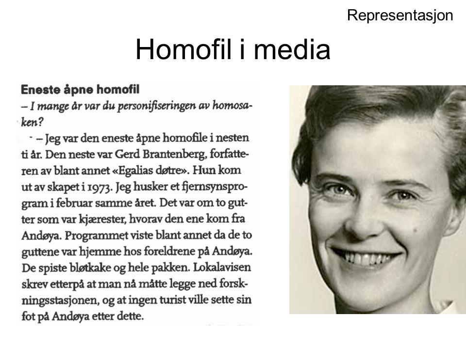 Homofil i media Representasjon Karen-Christine Friele 27 år