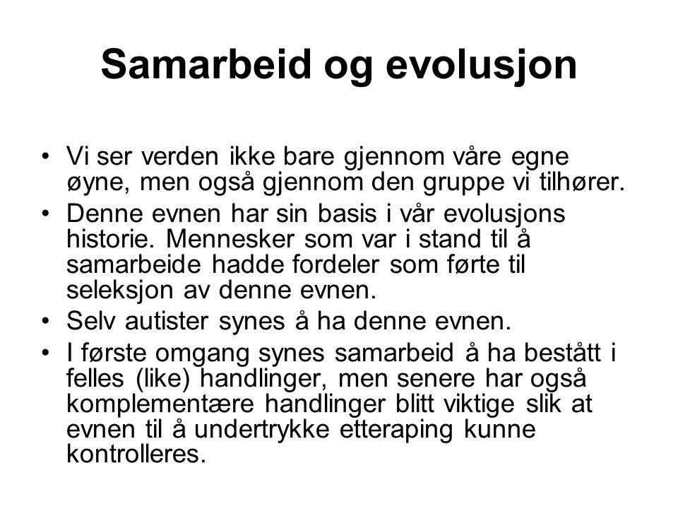 Samarbeid og evolusjon