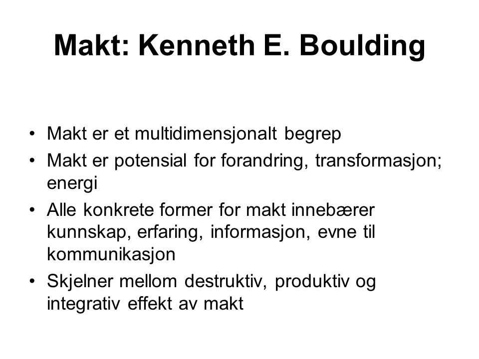 Makt: Kenneth E. Boulding