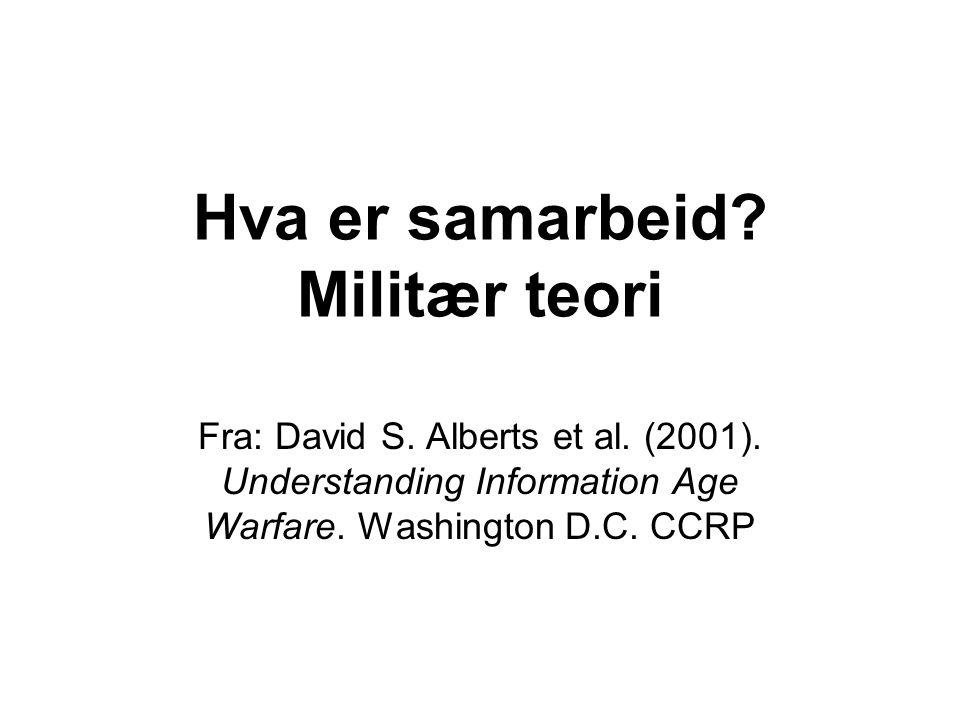 Hva er samarbeid Militær teori