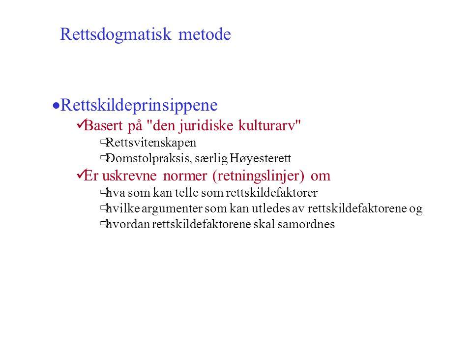 Rettsdogmatisk metode