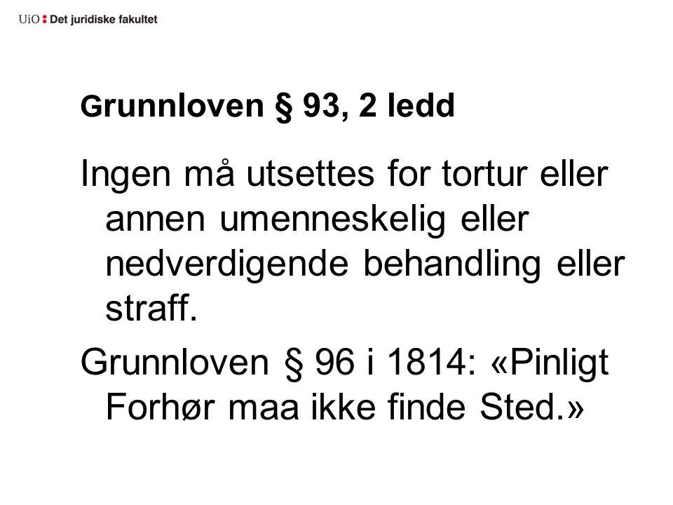 Grunnloven § 93, 2 ledd