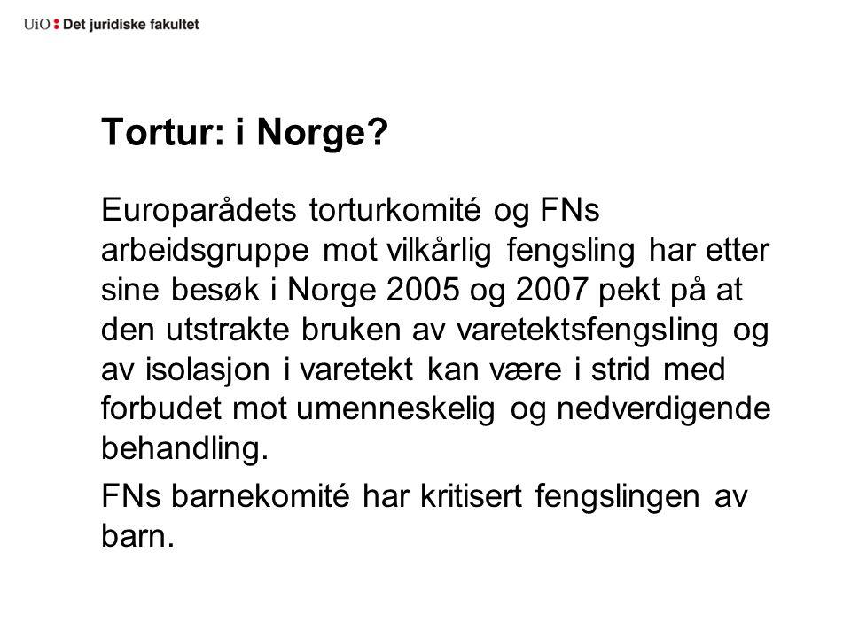 Tortur: i Norge