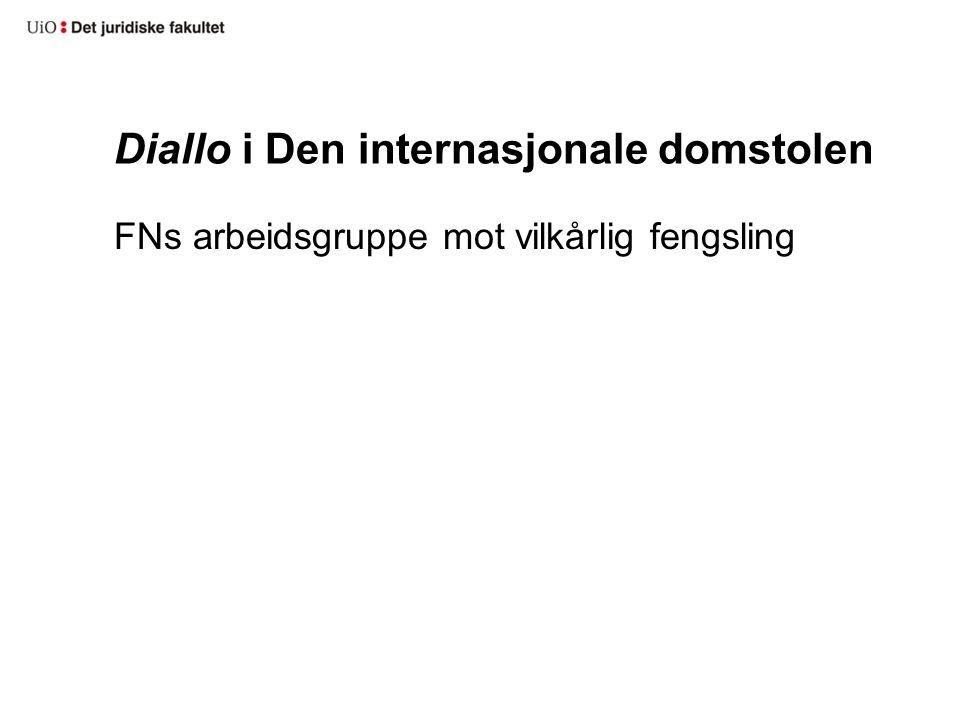 Diallo i Den internasjonale domstolen