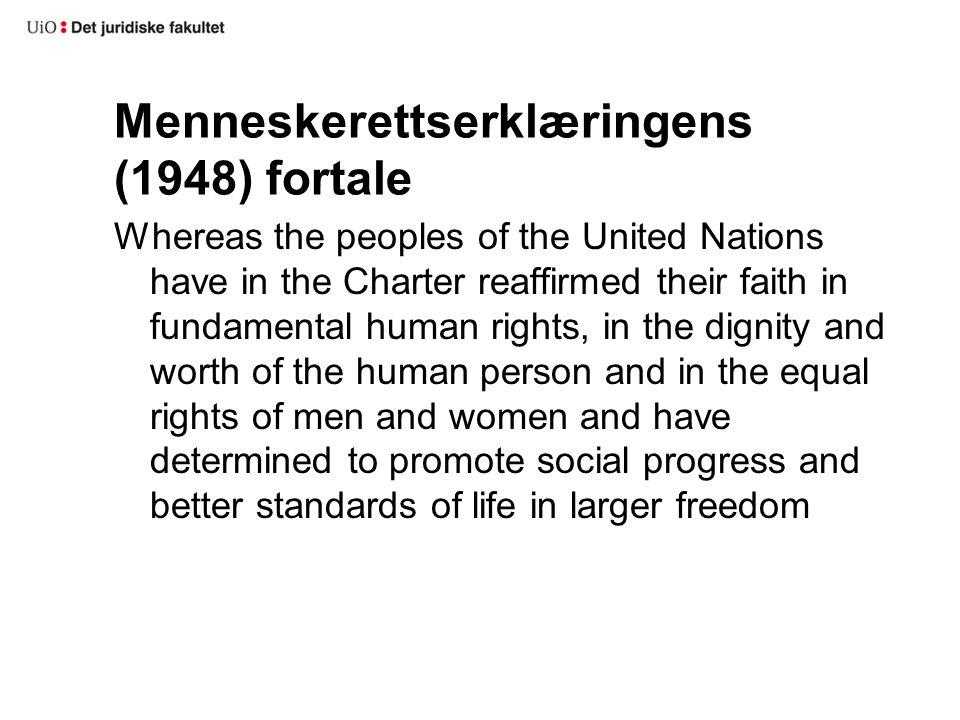 Menneskerettserklæringens (1948) fortale