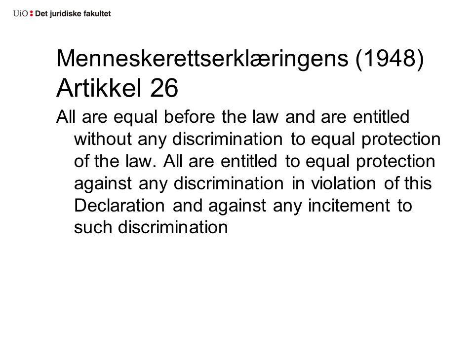 Menneskerettserklæringens (1948) Artikkel 26