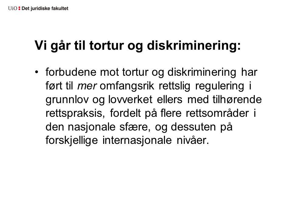 Vi går til tortur og diskriminering: