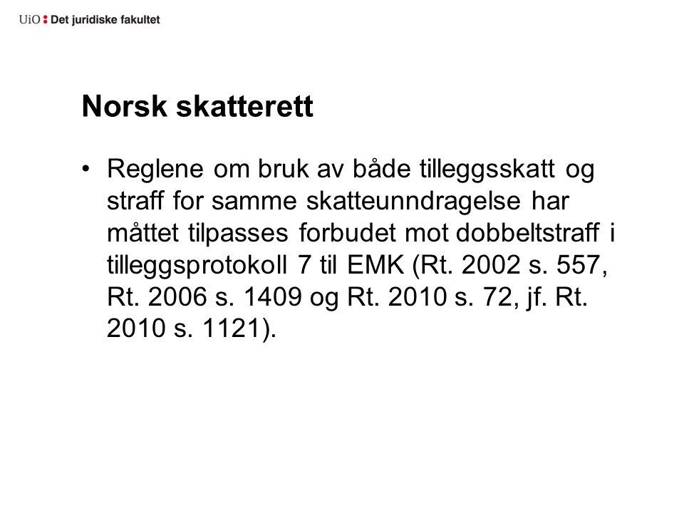 Norsk skatterett