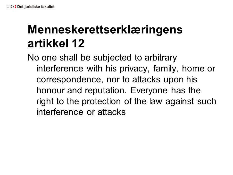 Menneskerettserklæringens artikkel 12