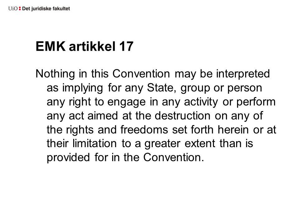 EMK artikkel 17