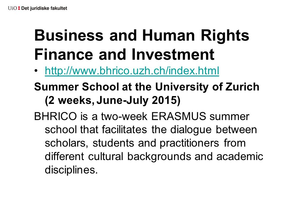 Business and Human Rights Finance and Investment