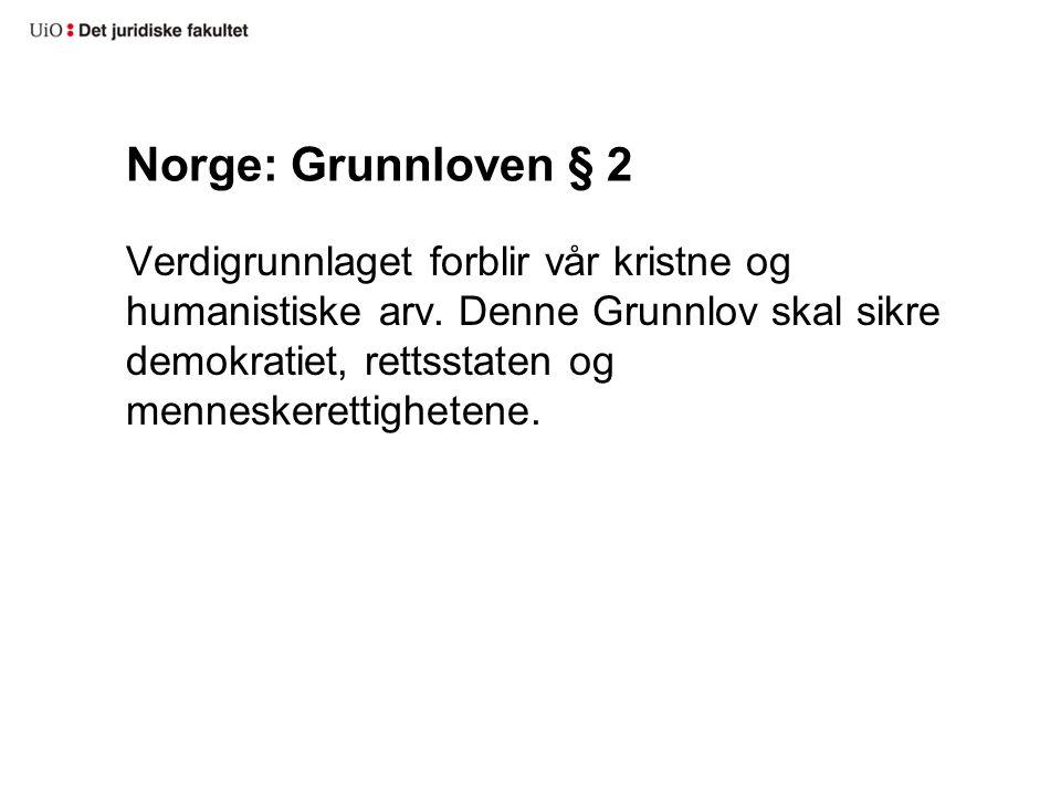 Norge: Grunnloven § 2