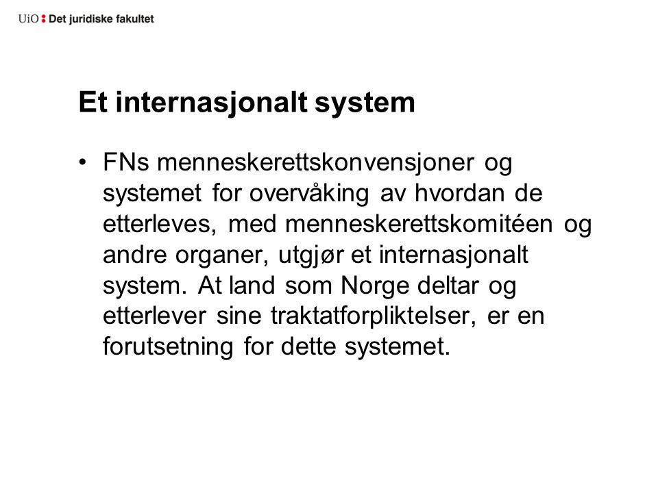Et internasjonalt system