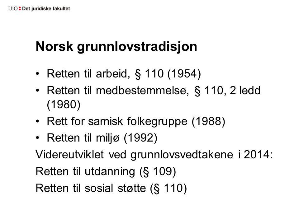 Norsk grunnlovstradisjon