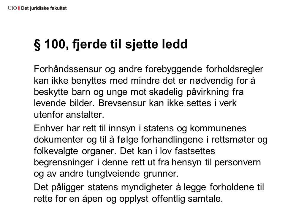 § 100, fjerde til sjette ledd
