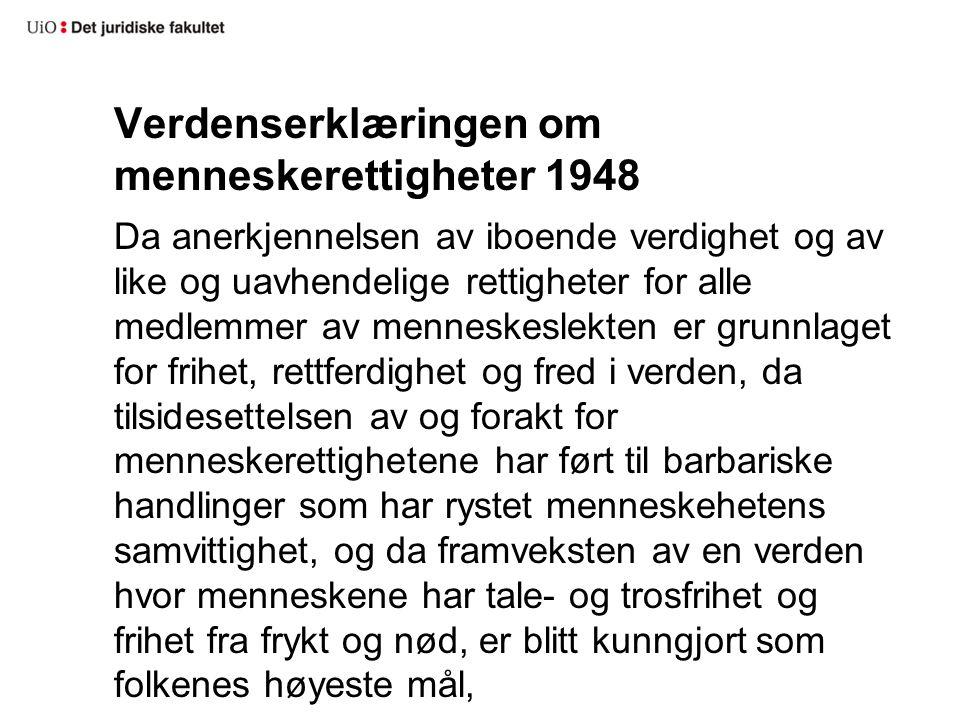 Verdenserklæringen om menneskerettigheter 1948