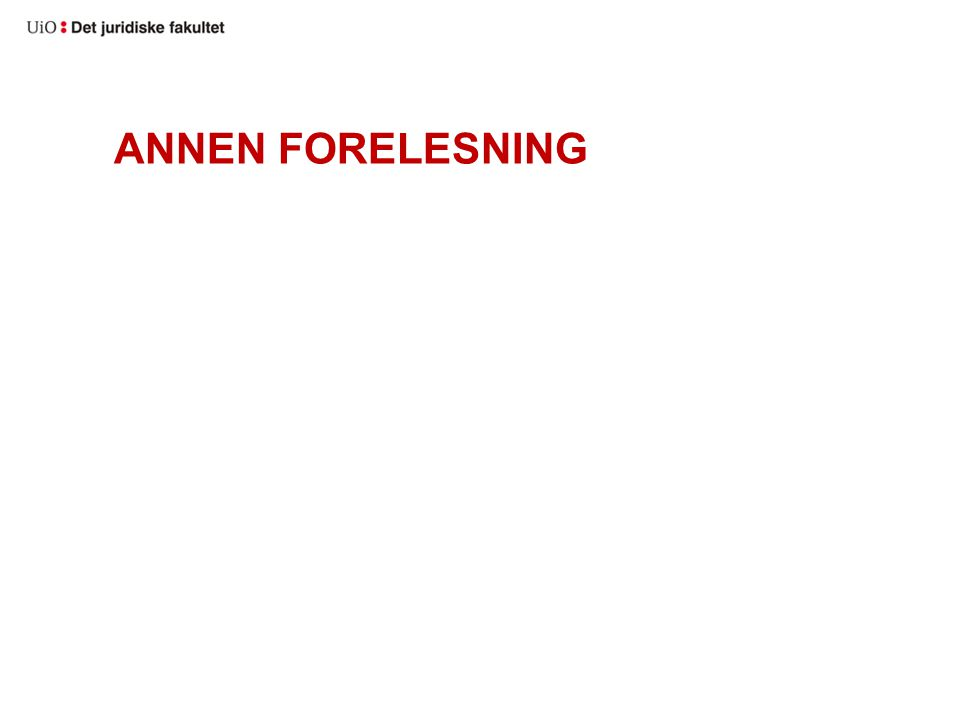 ANNEN FORELESNING