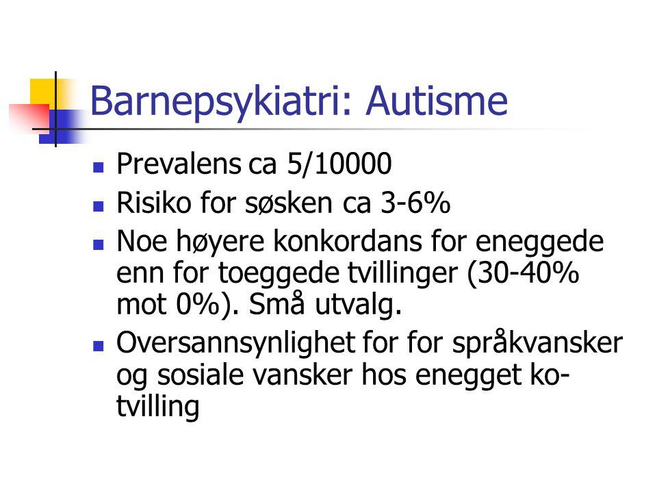 Barnepsykiatri: Autisme