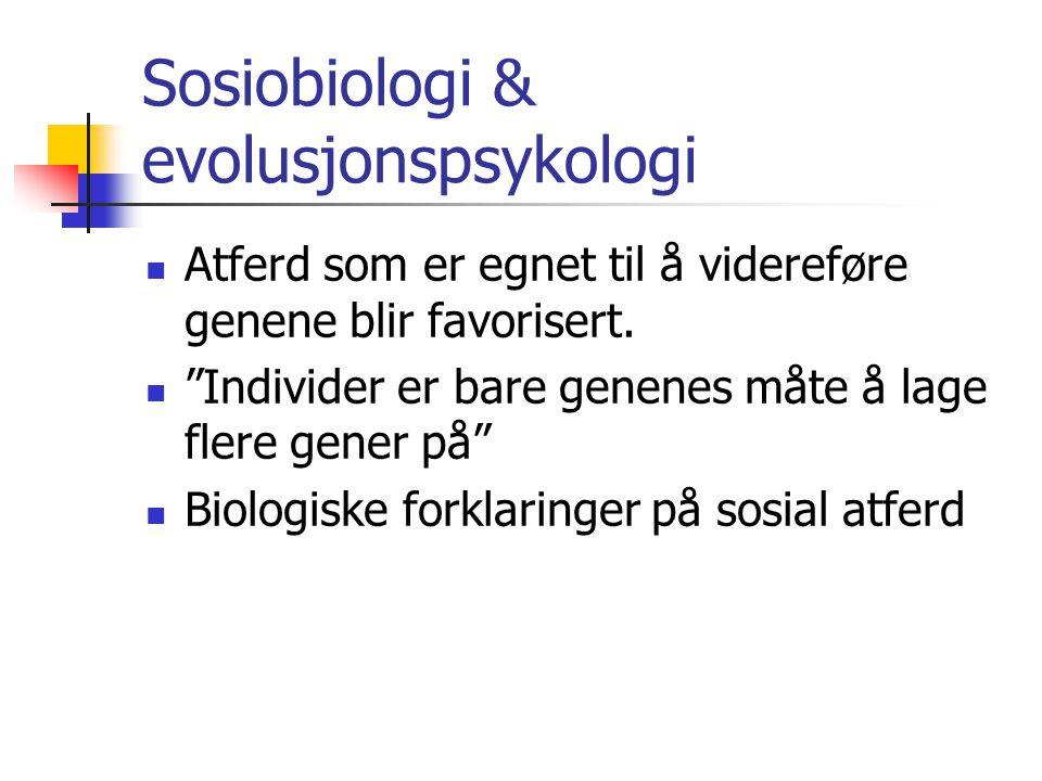 Sosiobiologi & evolusjonspsykologi