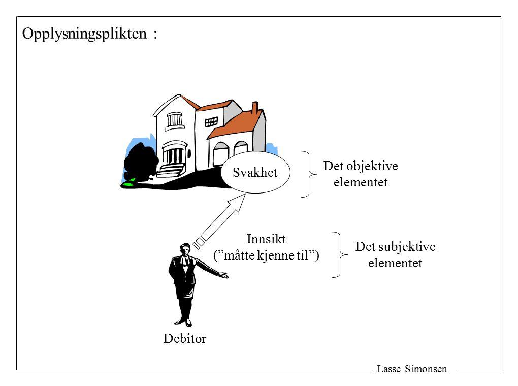 Opplysningsplikten : Det objektive Svakhet elementet Innsikt