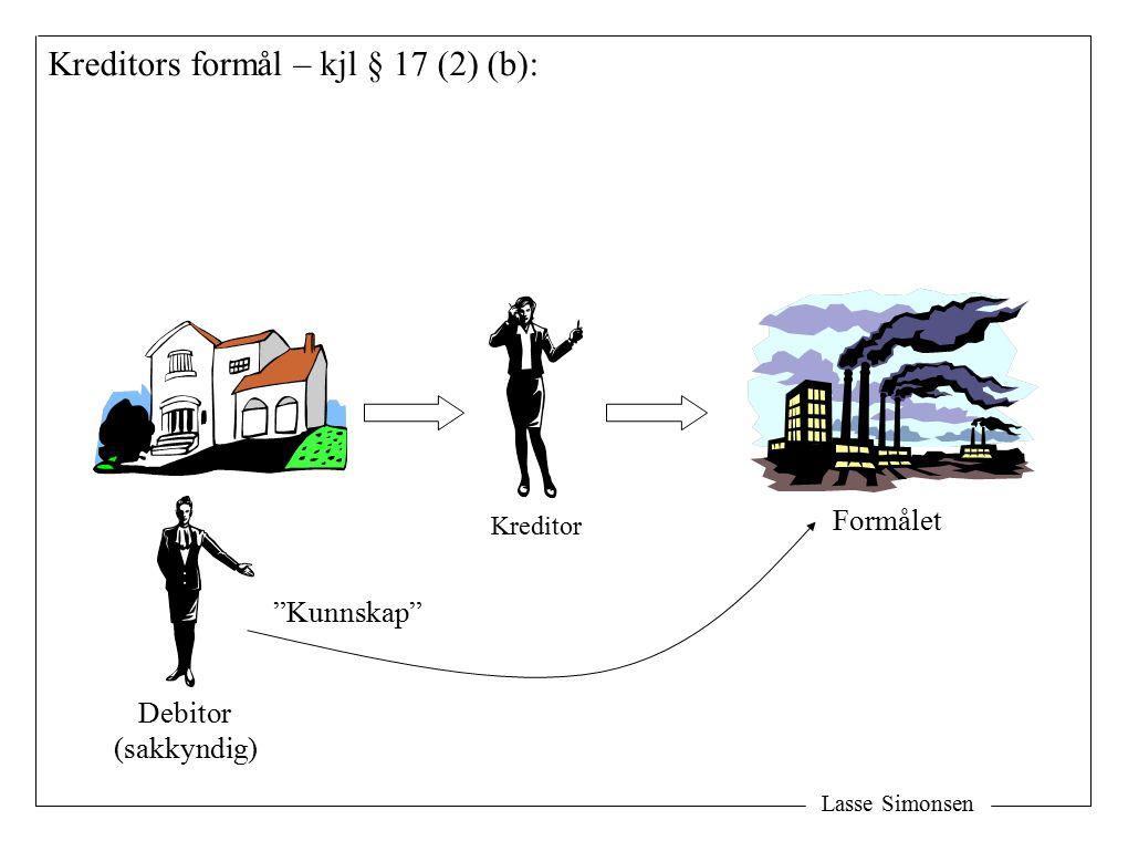 Kreditors formål – kjl § 17 (2) (b):