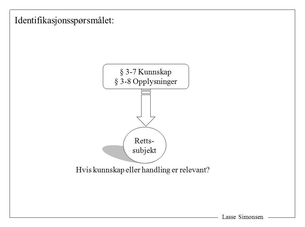 Hvis kunnskap eller handling er relevant