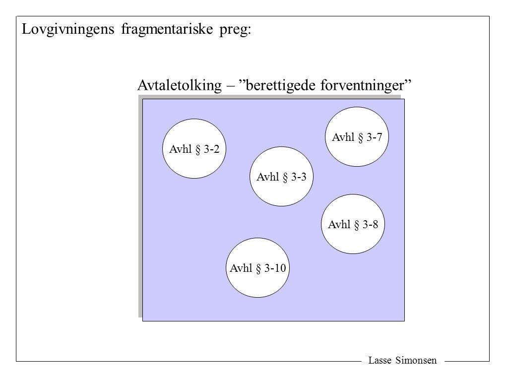 Lovgivningens fragmentariske preg: