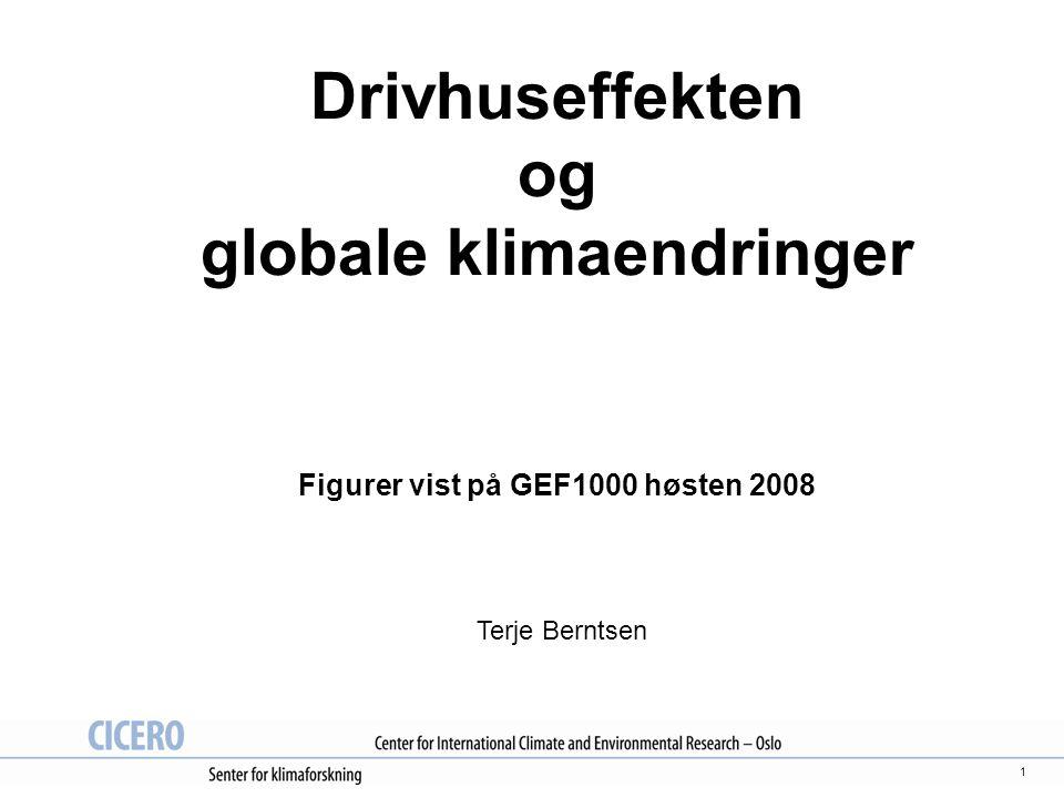 Drivhuseffekten og globale klimaendringer Figurer vist på GEF1000 høsten 2008