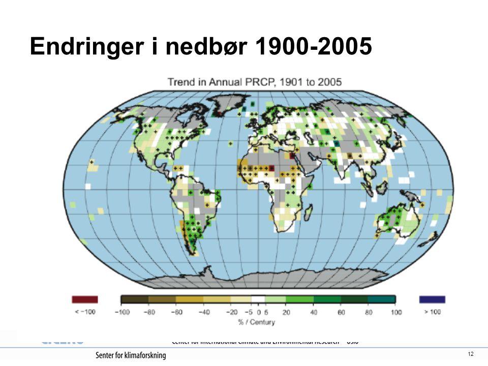 Endringer i nedbør 1900-2005