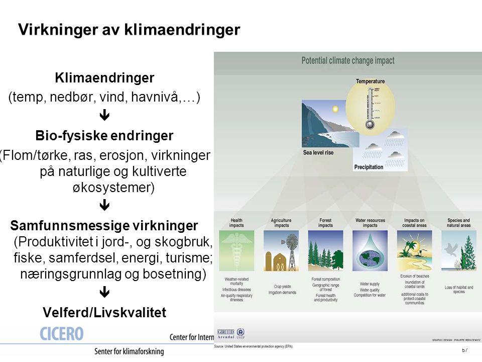 Virkninger av klimaendringer