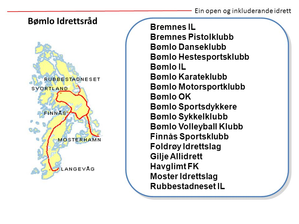 Bømlo Idrettsråd Bremnes IL Bremnes Pistolklubb Bømlo Danseklubb