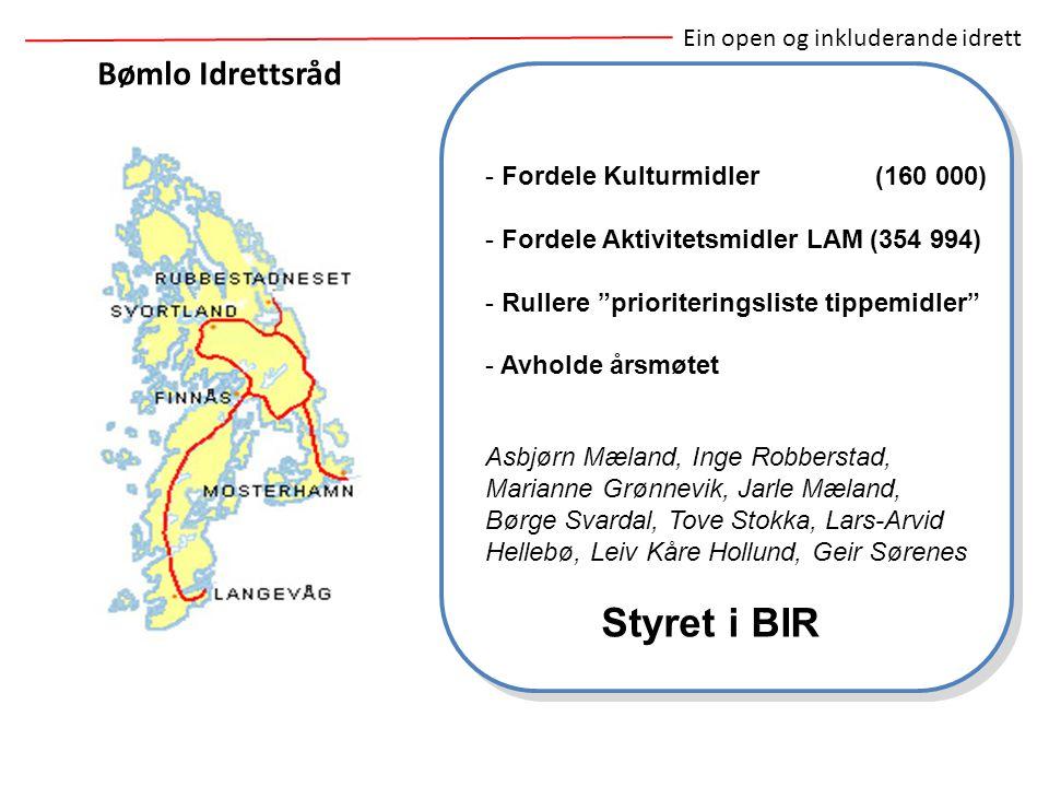 Styret i BIR Bømlo Idrettsråd Ein open og inkluderande idrett