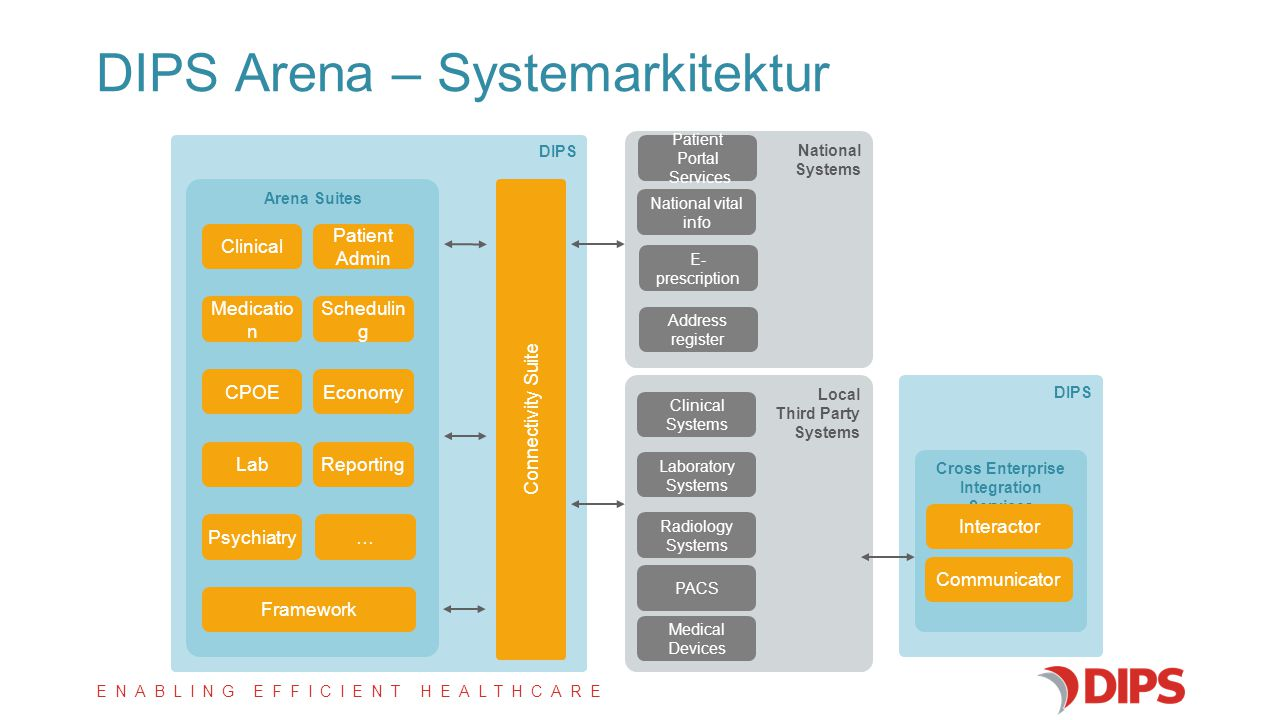DIPS Arena – Systemarkitektur