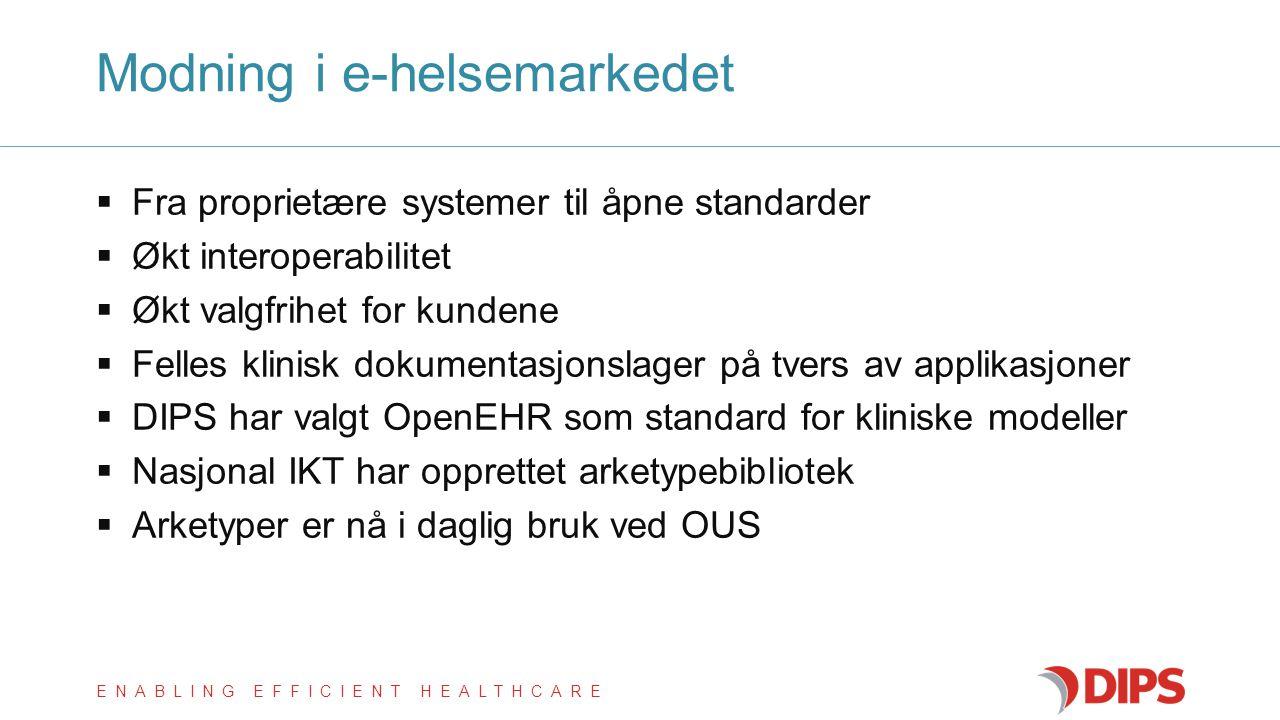 Modning i e-helsemarkedet