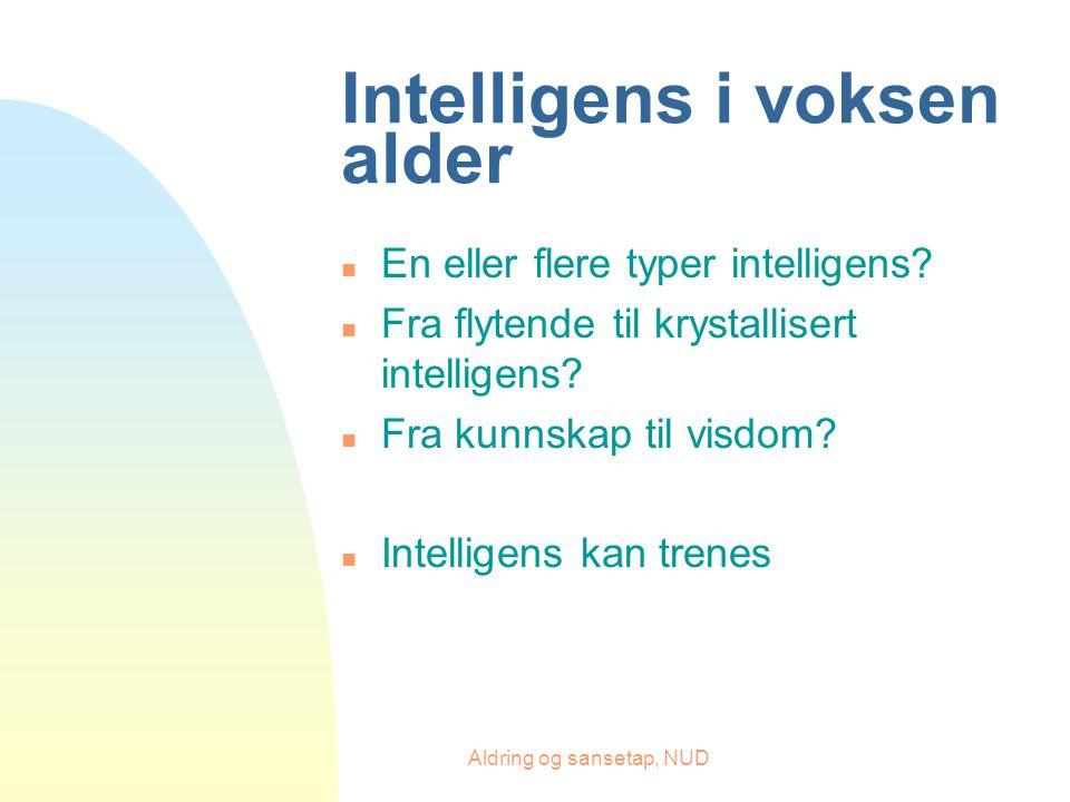 Intelligens i voksen alder