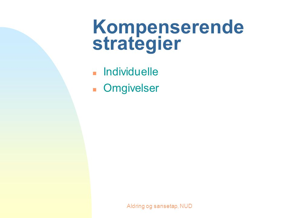 Kompenserende strategier